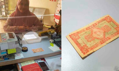 M'sian Money Changer Owner Thought He Saw A Ghost After Woman Produced Hell Note At Counter - WORLD OF BUZZ