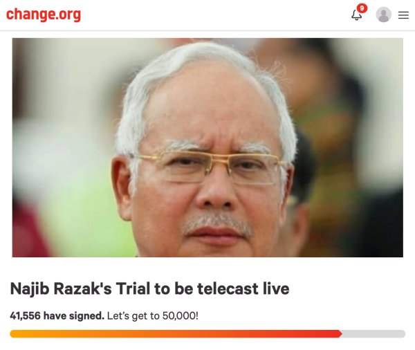 Najib Is OK With Live Broadcast Of His Trial, Says That People Have The Right To Know The Truth - WORLD OF BUZZ