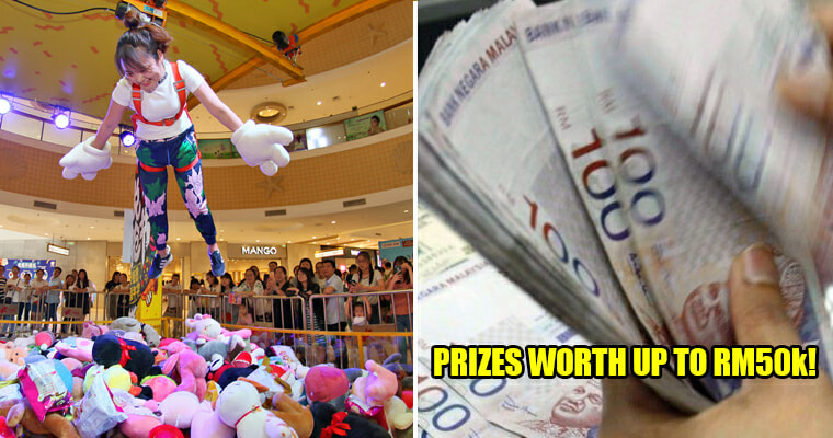 Omg Guys! There's A Giant Human Claw Machine Game In Pj That Could Win You Prizes Up To Rm50,000! - World Of Buzz