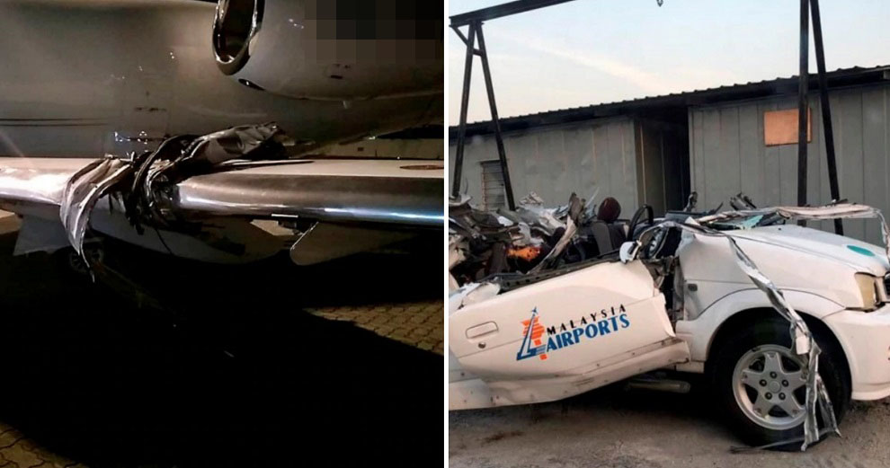 Plane Hits & Rips Off Car Roof During Landing At Subang Airport, Driver In Critical Condition - World Of Buzz