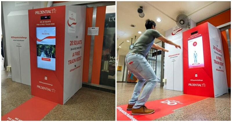 Singaporeans Squat Your Way For A Free Mrt Ride - World Of Buzz 2