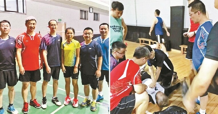 Six Badminton Players Saved a Man's Life When He Suffered Cardiac Arrest While Playing Basketball - WORLD OF BUZZ 2
