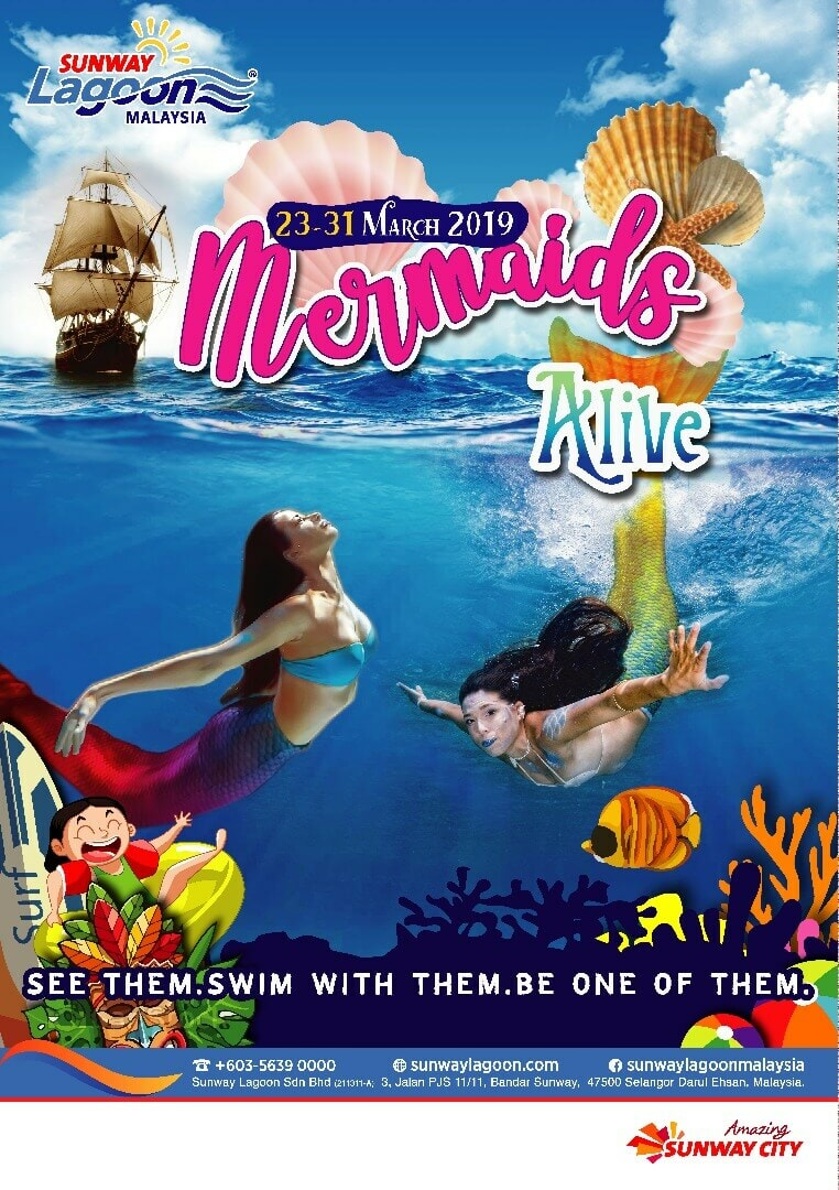 Sunway Lagoon Mermaids Alive Ticket Giveaway - WORLD OF BUZZ 1