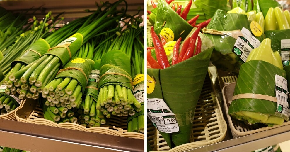 Thai Supermarket Goes Viral For Its Environmentally-Friendly Banana Leaf Packaging - WORLD OF BUZZ 6