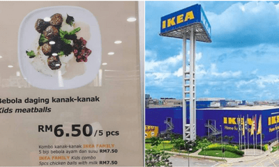 "This IKEA Kid's Menu Poster Is Telling Everyone they can Eat ""Bebola Daging Kanak-Kanak"" - WORLD OF BUZZ"