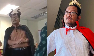 This Lecturer From MPSI Dresses Up As Maleficent And Other Characters When Teaching His Class - WORLD OF BUZZ