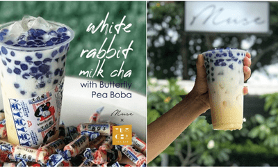 This Shop In PJ Sells White Rabbit Milk Cha With Butterfly Pea Boba & We're Definitely Going To Try It - WORLD OF BUZZ 2