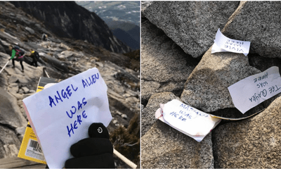 Tourists Leaving Behind Notes With Their Names On Top Of Mount Kinabalu - WORLD OF BUZZ 4