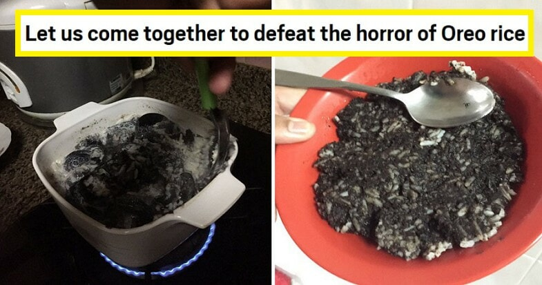 """Viral Tweet Says """"oreo Rice"""" Is """"sedap Gila"""", But M'sians & International Media Are Grossed Out - World Of Buzz"""