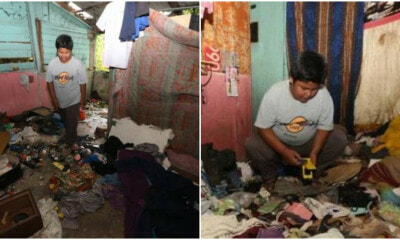 12yo M'sian Boy Lives Alone in Run-Down House After Mum Sent to Jail, Now Sweeps Leaves to Make Money - WORLD OF BUZZ 3