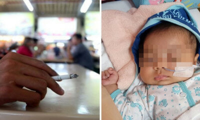 2-Month-Old Baby Contracts Lung Infection & Vomits Blood Due to Inhaling Cigarette Smoke - WORLD OF BUZZ 1