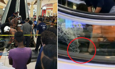 6yo Boy Suffers Injuries & Bleeds Profusely After His Leg Gets Stuck in Escalator at Serdang Mall - WORLD OF BUZZ 1
