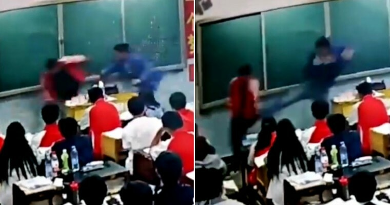 Teacher Violently Slaps, Kicks & Pulls Students' Hair For Eating and Talking in Class - WORLD OF BUZZ