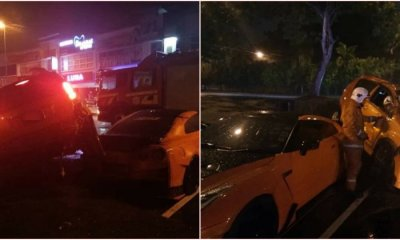 A Flying Myvi Breaks The Internet Again And Crashes Into A Nissan Gtr - World Of Buzz