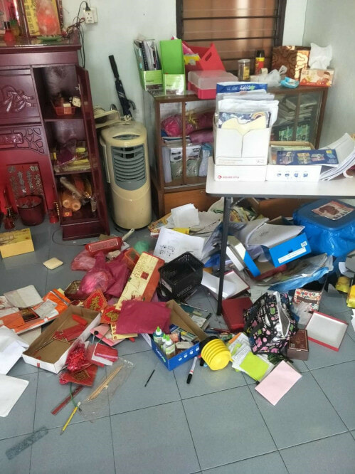 Burglars Break into Penang House, Leave With Nothing As They Can't Believe How Messy It Is - WORLD OF BUZZ