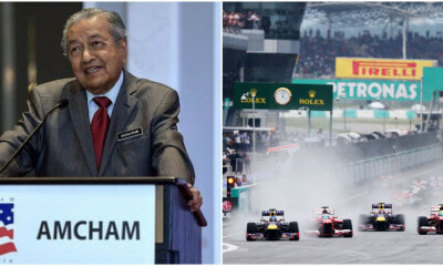 Dr M Wants to Bring F1 Grand Prix Race Back, Says M'sians Have Become 'Addicted to Motor Vehicles' - WORLD OF BUZZ