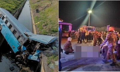 Factory Bus Driver Plunges into Monsoon Drain Near KLIA, 11 Killed & 34 Injured - WORLD OF BUZZ