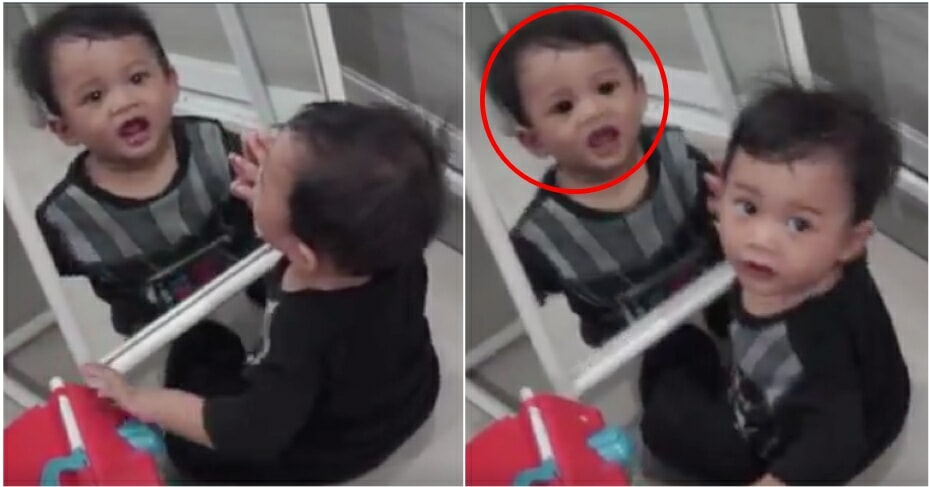 Father Shares a Scary Video of Son's Reflection In Mirror, Netizens Scared Sh*tless - WORLD OF BUZZ