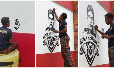Fireman Pays Tribute To Fallen Comrade, Paints Mural - WORLD OF BUZZ 3