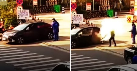 Frustrated Petrol Station Staff Sprays Fire Extinguisher Directly In Stubborn Smoker's Face - WORLD OF BUZZ 2