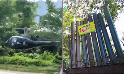 Guy Flies Helicopter To Buy Lemang To'Ki In Pahang - WORLD OF BUZZ 1