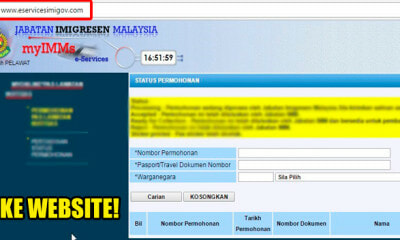 Immigration Dept Warns Malaysians Against This Fake Website That Looks Exactly Like Official Site - WORLD OF BUZZ