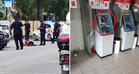 Klang Man Smashes ATM & Attacks Police Because He Could Not Withdraw Money from ATM - WORLD OF BUZZ 6