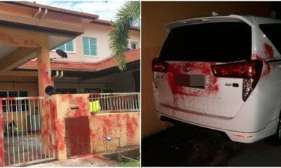 Loan Sharks Send Warning to Late Borrower By Splashing 14 Houses and 18 Cars of Neighbours with Red Paint - WORLD OF BUZZ 3
