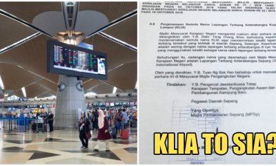 Malaysians are Shocked Over Viral Document That Says KLIA Will be Rebranded to SIA - WORLD OF BUZZ 1