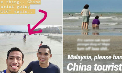 Malaysians Taking Selfie At Port Dickson, Gets Photobombed by Tourist Taking a Dump by Beach - WORLD OF BUZZ