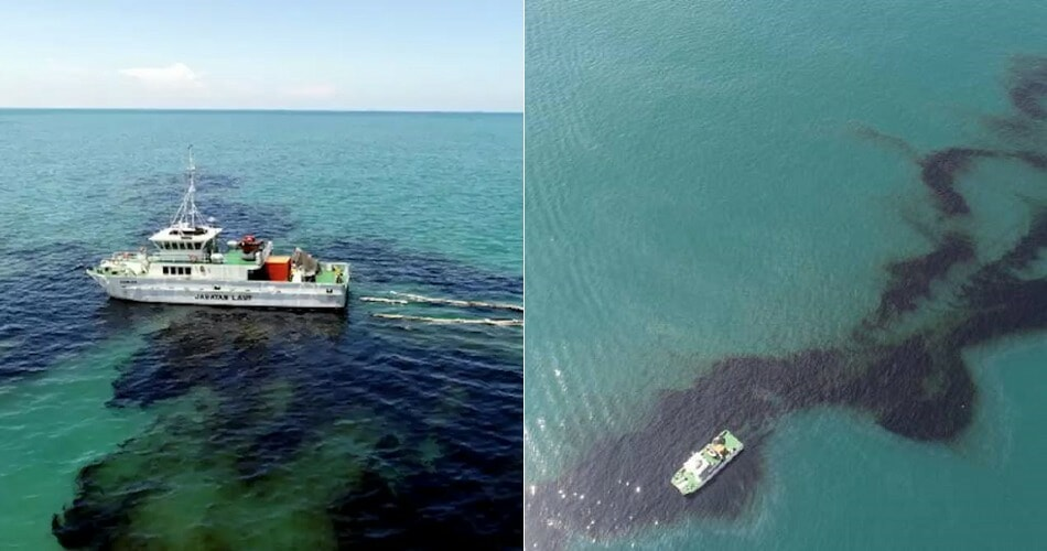 Marine Department: Nearly 300 Tonnes Of Oil Was Dumped Into Johor Sea - WORLD OF BUZZ