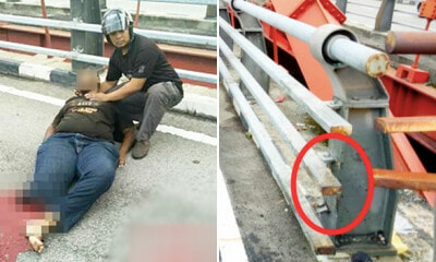 M'sian Teen's Leg Shockingly Gets Severed After Hitting Metal Guard Rail On Bridge - WORLD OF BUZZ