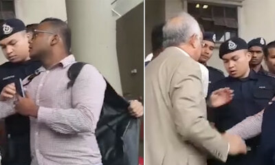 Najib Lashes Out at Policeman for Stopping Law Student From Talking to Him - WORLD OF BUZZ
