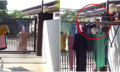 Netizens Shocked By Penang Man Who Prayed In Front of House and Stole Underwear - WORLD OF BUZZ 2