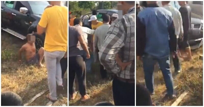 One Legged Man Mobbed By Group Of Men For Allegedly Running Over A Man - WORLD OF BUZZ 4