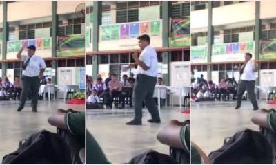 School Student Busts Out Sick Dance Moves During Morning Assembly - WORLD OF BUZZ 3