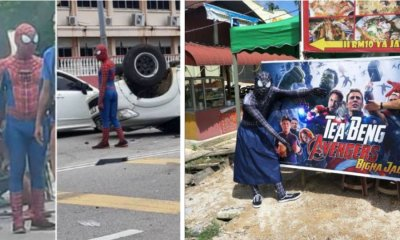 """Spider-Man"" Goes Viral in Kuantan After Helping Victims of A Car Accident - WORLD OF BUZZ"