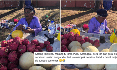 The Story Of An Old Nenek Fruit Seller Who Got Robbed Goes Viral, Prompted Caring Netizens To Help Her - WORLD OF BUZZ 6