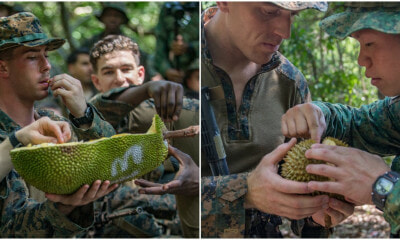 These Soldiers Were Given Durian to Eat As Part of 'Jungle Survival Techniques' - WORLD OF BUZZ 8
