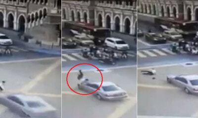 Traffic Police Gets Near-Death Experience When 25yo Rams Into Him on KL Road - WORLD OF BUZZ