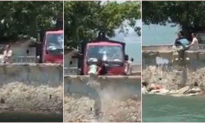 Video: M'sians Angered After Two Men Dump Rubbish into the Sea in Penang - WORLD OF BUZZ