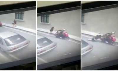 Video: Snatch Theft Steals And Drags Victim Caught On CCTV In Muar - WORLD OF BUZZ 5