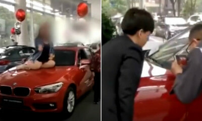 Woman Sits & Damages Car in Showroom Complaining That Airbags Didn't Inflate - WORLD OF BUZZ 1