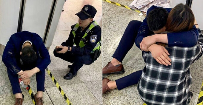 Young Salesman Breaks Down In Public Due To Stress After Failing To Close Deal With Clients - World Of Buzz