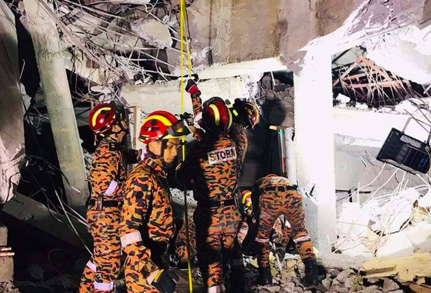 Carpark at Gombak LRT Station Collapses, 2 Injured & 1 Still Trapped in Rubble - WORLD OF BUZZ 2