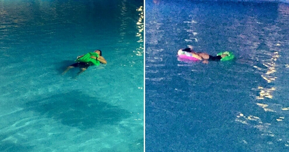 Guy Hilariously Spends 7 Hours Sleeping in Hotel Swimming Pool, Netizens Amazed - WORLD OF BUZZ