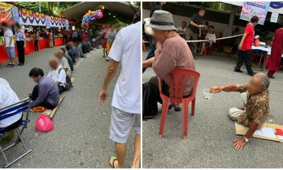 Hideous Sight as Beggars Take Advantage of Temple Visitors' Generosity on Wesak Day in KL - WORLD OF BUZZ