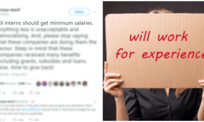"""Interns Should Get Minimum Salaries, Anything Less is Unacceptable"", Twitter Speaks Out - WORLD OF BUZZ"