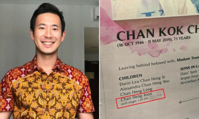 Malaysian Family Hilariously Promotes Handsome Son Who's Still Single in Late Father's Obituary - WORLD OF BUZZ 4