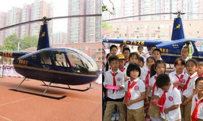 Man Denies Flaunting Wealth, Says He Landed Helicopter in Daughter's School to Educate - WORLD OF BUZZ 2
